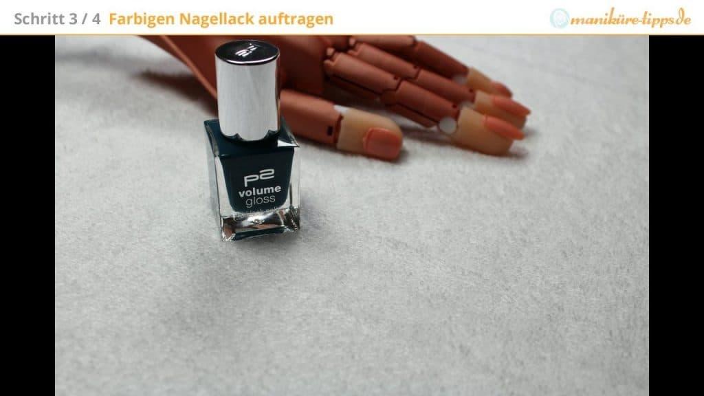 Farbigen Nagellack auswählen
